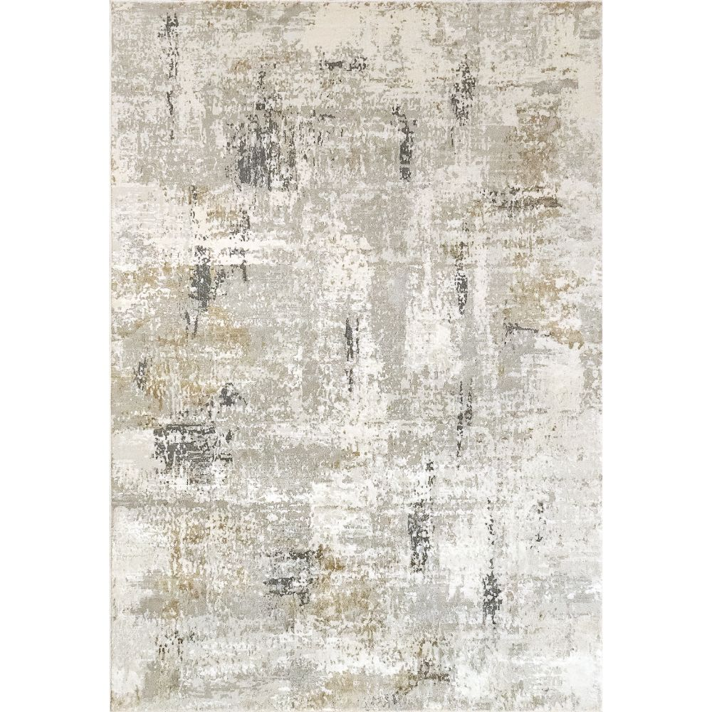 Dynamic Rugs 27048 Quartz 9 Ft. 2 In. X 12 Ft. 10 In. Rectangle Rug in Ivory / Grey