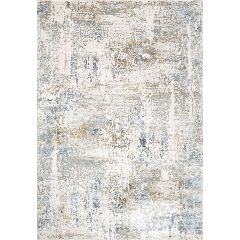Dynamic Rugs 27050 Quartz 9 Ft. 2 In. X 12 Ft. 10 In. Rectangle Rug in Ivory / Blue