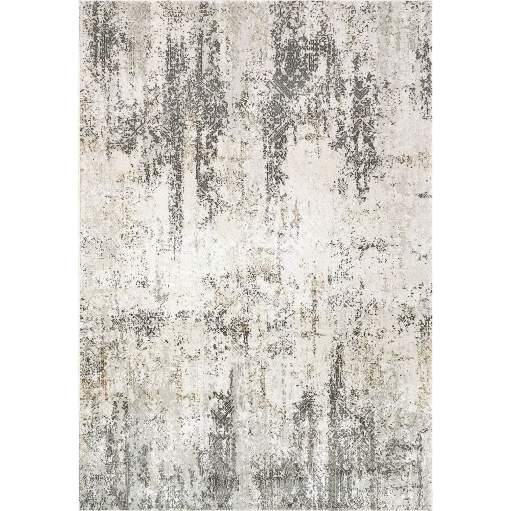 Dynamic Rugs 27053 Quartz 9 Ft. 2 In. X 12 Ft. 10 In. Rectangle Rug in Ivory / Grey