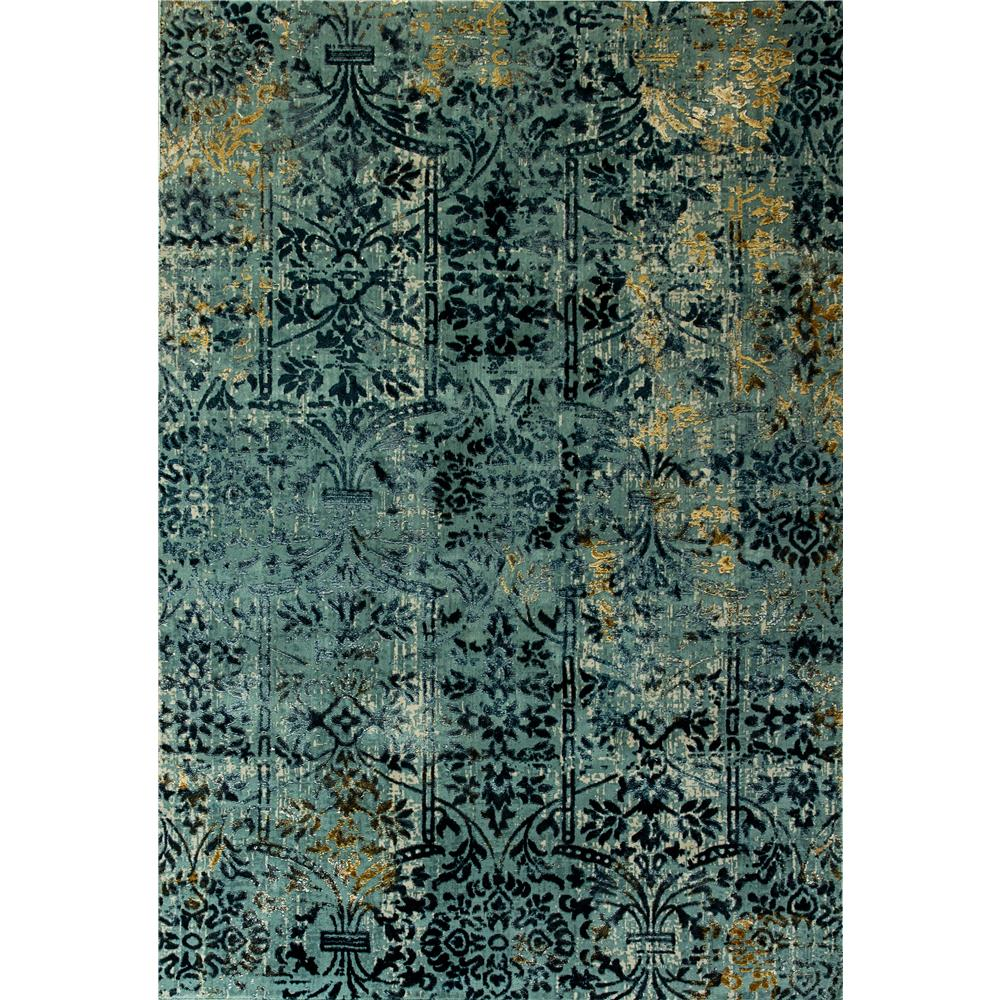 Dynamic Rugs 26100-500 Quartz 6 Ft. 7 In. X 9 Ft. 6 In. Rectangle Rug in Light Blue