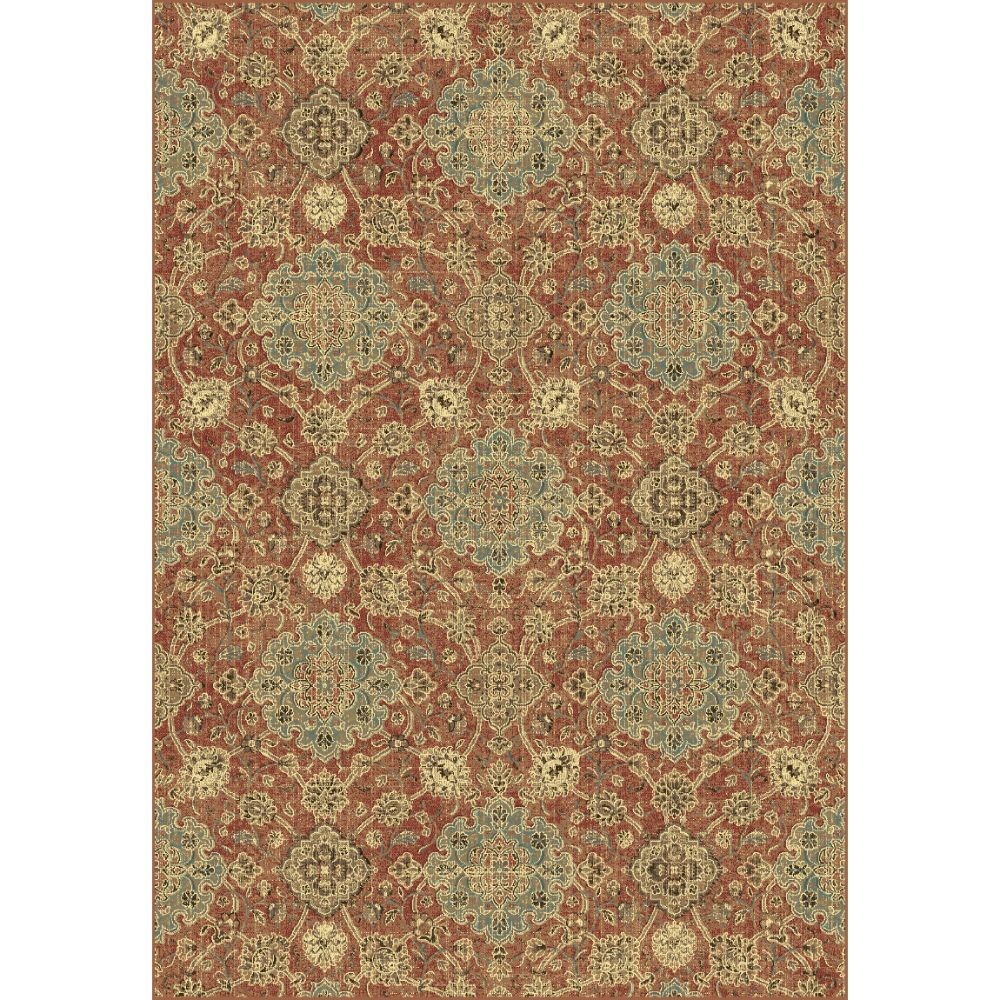 Dynamic Rugs  89665-8262 Regal 2 Ft. X 3 Ft. 5 In. Rectangle Rug in Rust/Blue