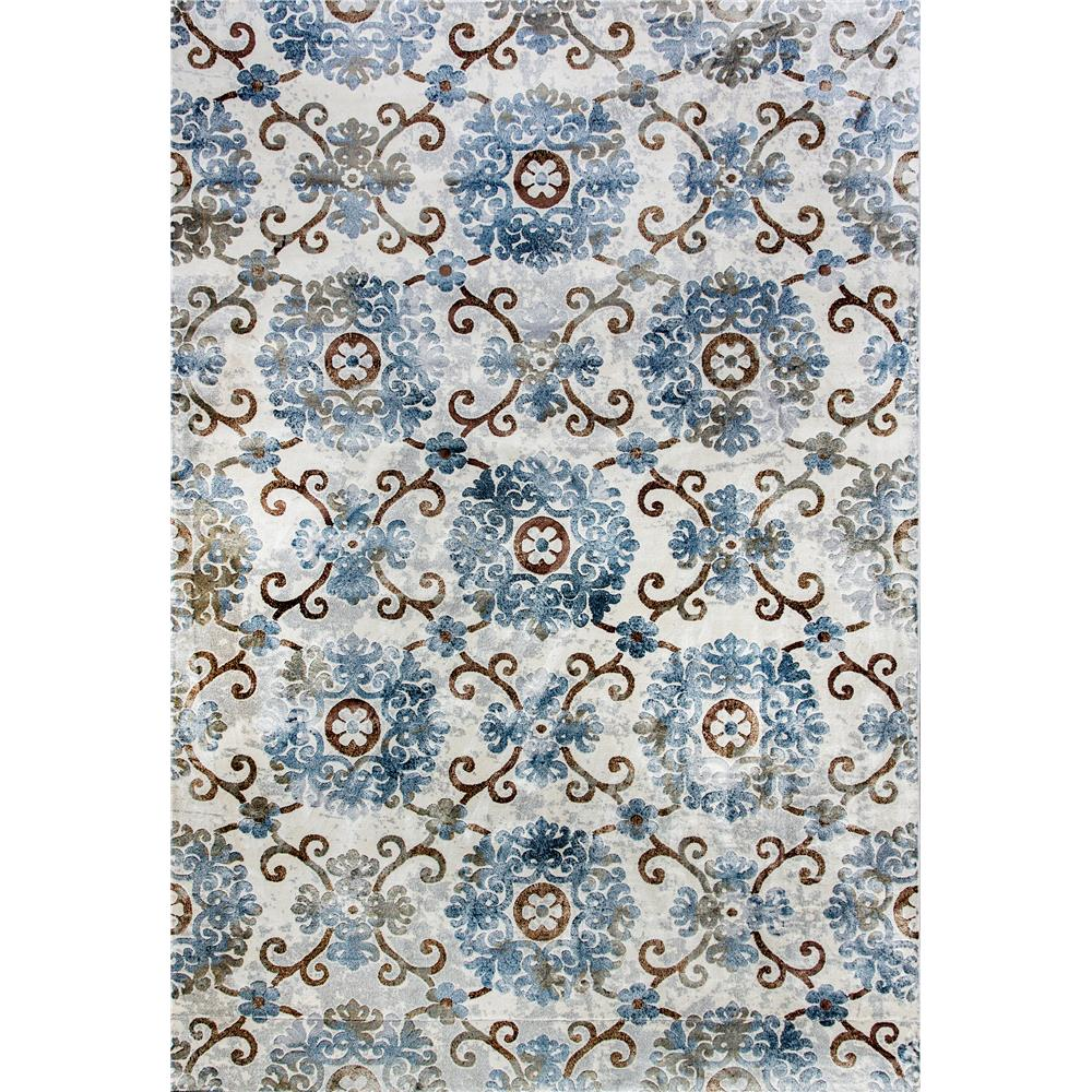 Dynamic Rugs 90270-934 Royal Treasure 2 Ft. X 3 Ft. 5 In. Rectangle Rug in Soft Blue/Mocha