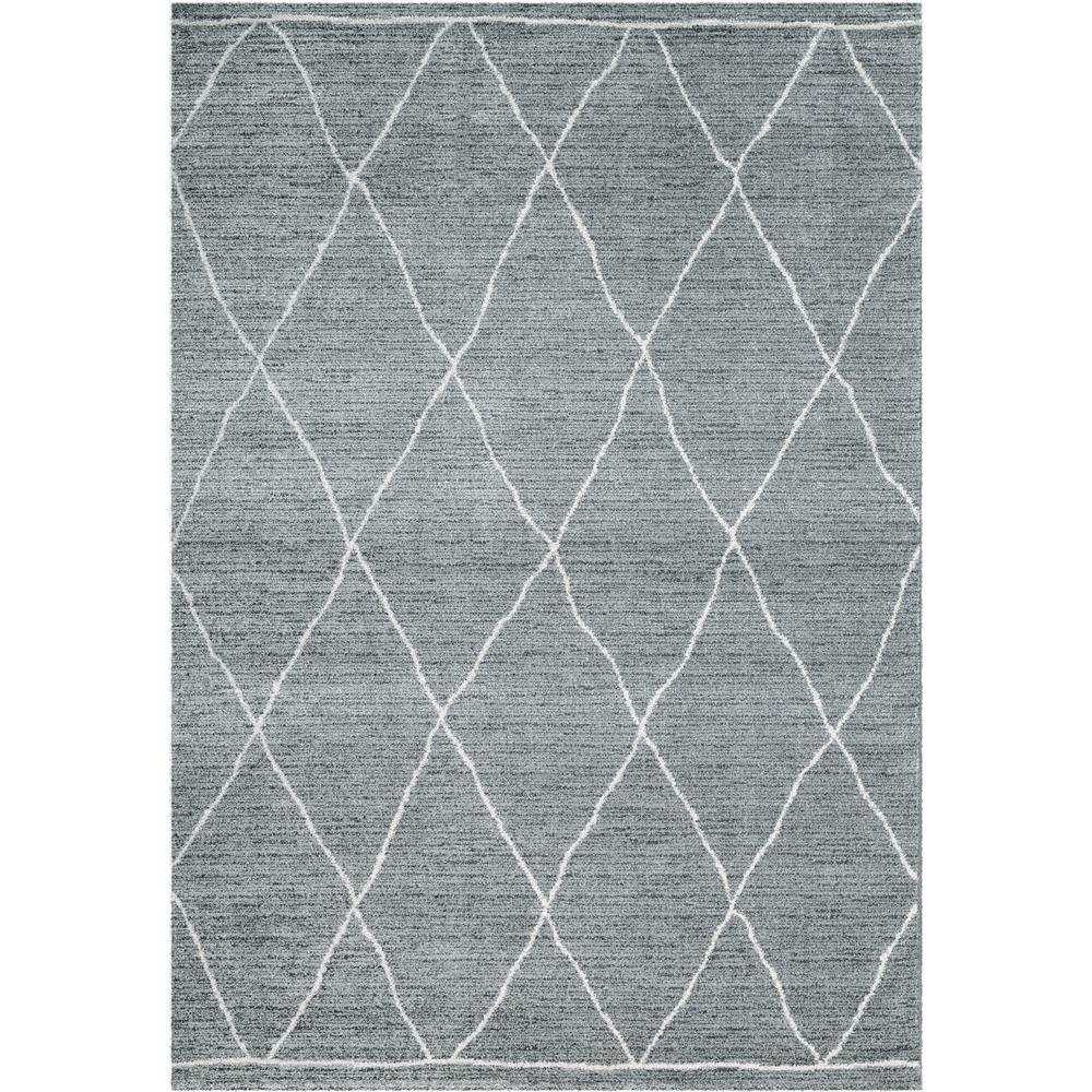 Dynamic Rugs 49004 4262 Sherpa 2 Ft. 2 In. X 7 Ft. 7 In. Runner Rug in Grey/Ivory