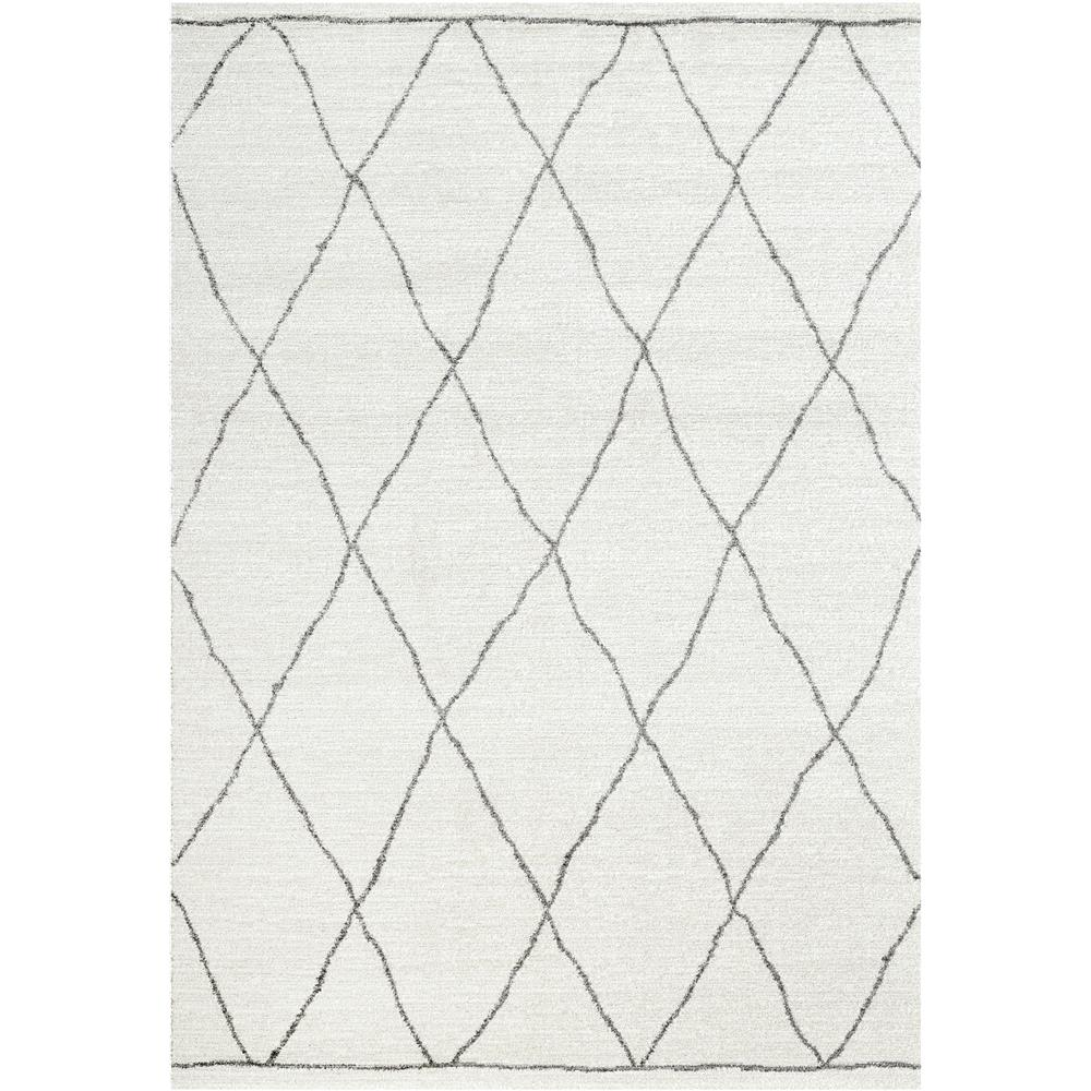 Dynamic Rugs 49004 6242 Sherpa 2 Ft. 2 In. X 7 Ft. 7 In. Runner Rug in Ivory/Grey