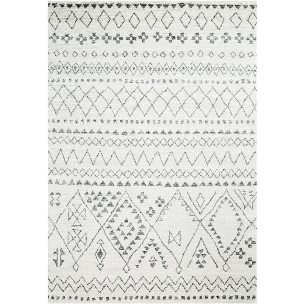 Dynamic Rugs 49006 6242 Sherpa 2 Ft. 2 In. X 7 Ft. 7 In. Runner Rug in Ivory/Grey