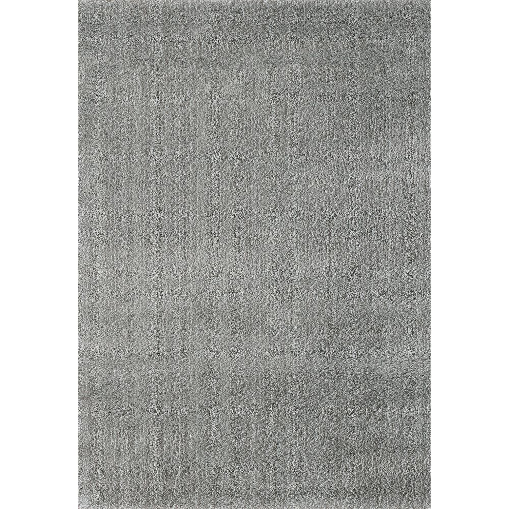 Dynamic Rugs 5900 901 Silky Shag 2 Ft. X 3 Ft. 3 In. Rectangle Rug in Silver