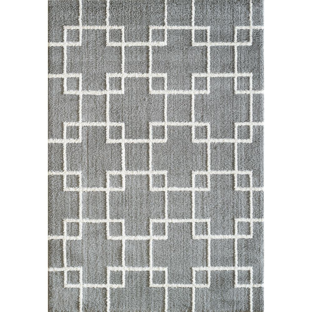 Dynamic Rugs 5901 901 Silky Shag 2 Ft. X 3 Ft. 3 In. Rectangle Rug in Silver