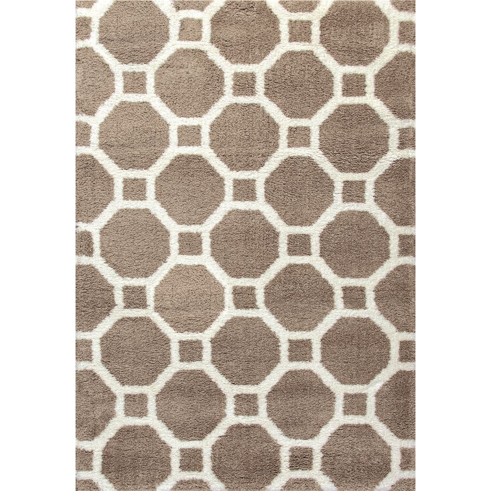 Dynamic Rugs 5903-115 Silky Shag 2 Ft. X 3 Ft. 3 In. Rectangle Rug in Beige