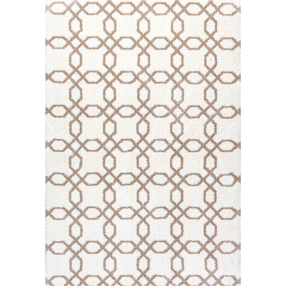 Dynamic Rugs 5905-111 Silky Shag 2 Ft. X 3 Ft. 3 In. Rectangle Rug in White