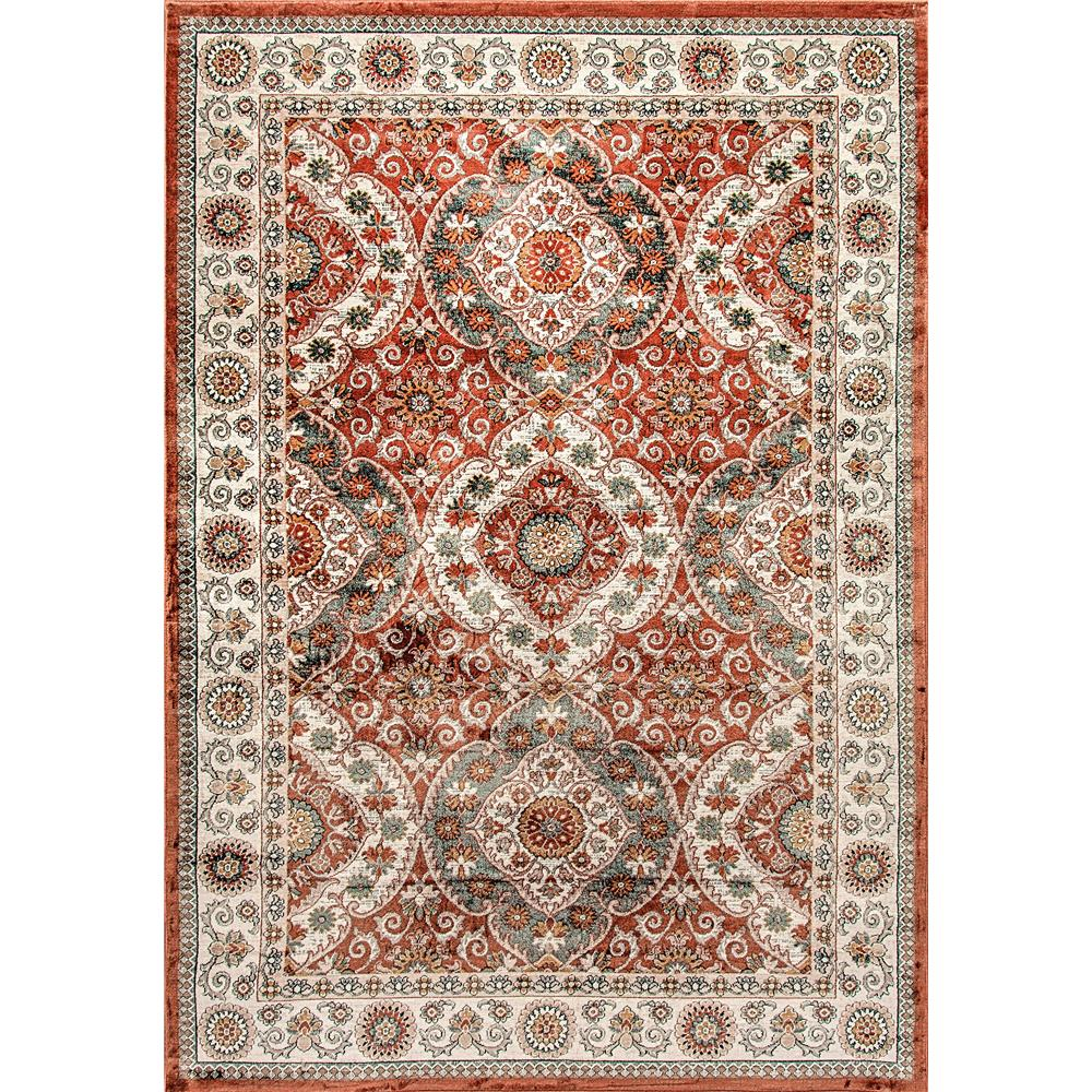 Dynamic Rugs  1578-106 Venice 2 Ft. X 3 Ft. 5 In. Rectangle Rug in Rust/Cream