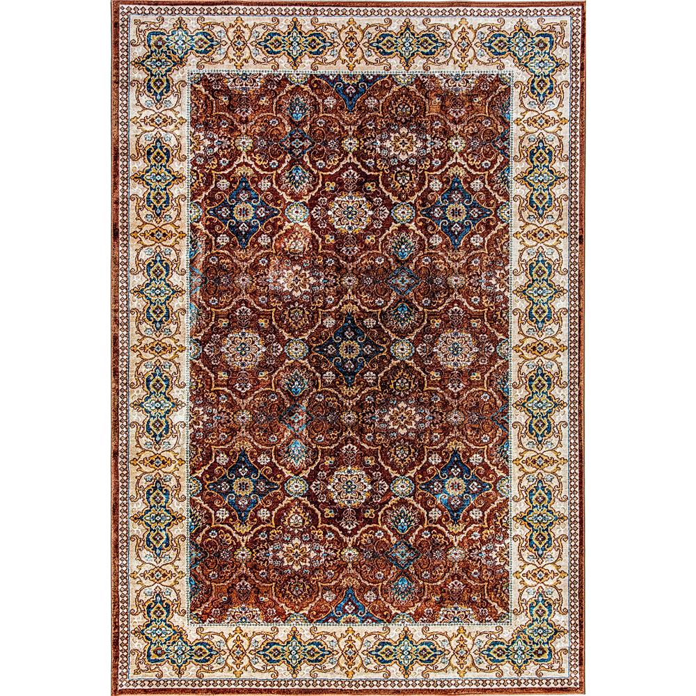 Dynamic Rugs  1998-616 Venice 2 Ft. X 3 Ft. 5 In. Rectangle Rug in Rust