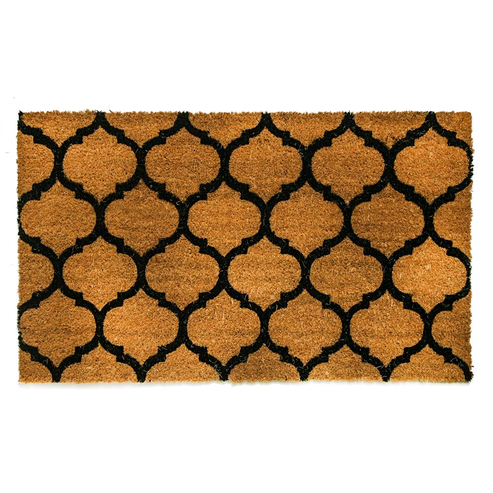 Dynamic Rugs 3453 Vale 1 Ft. 6 In. X 2 Ft. 6 In. Door Mat in Ivory/Black