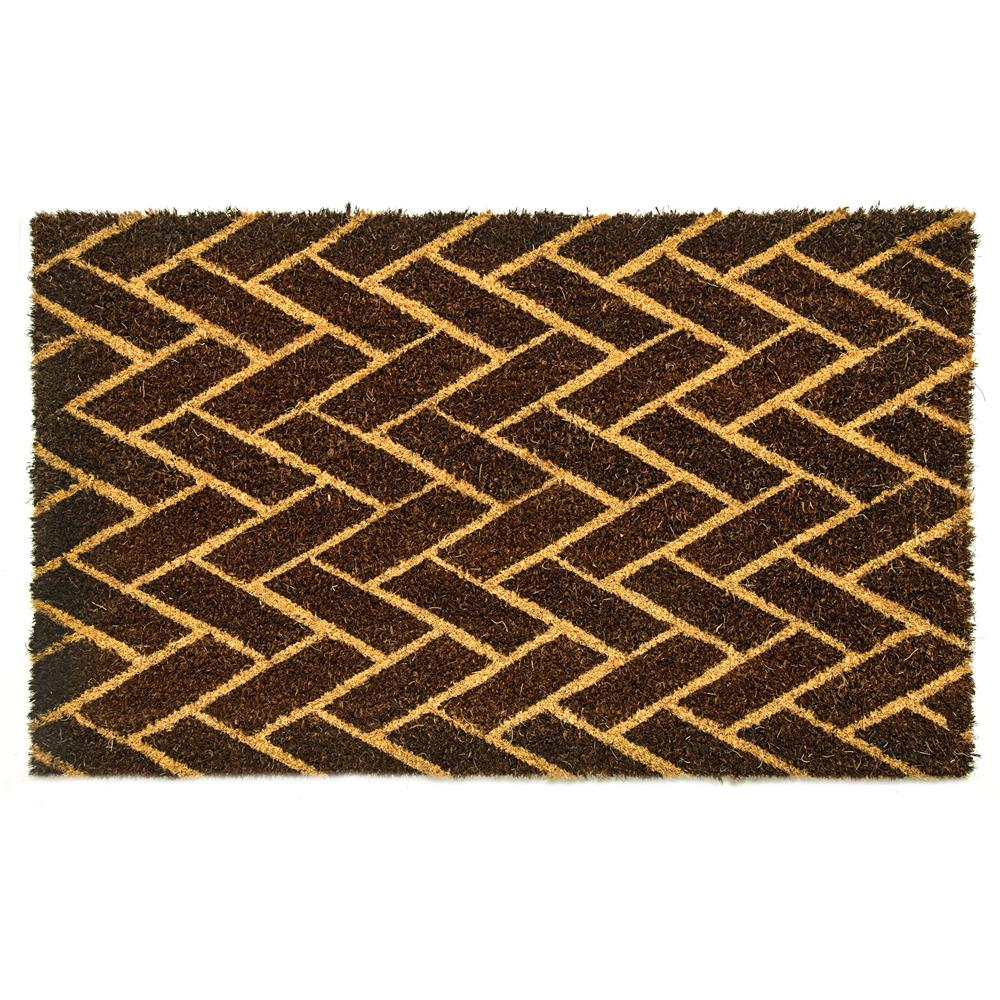 Dynamic Rugs 3454 Vale 1 Ft. 6 In. X 2 Ft. 6 In. Door Mat in Black/Ivory