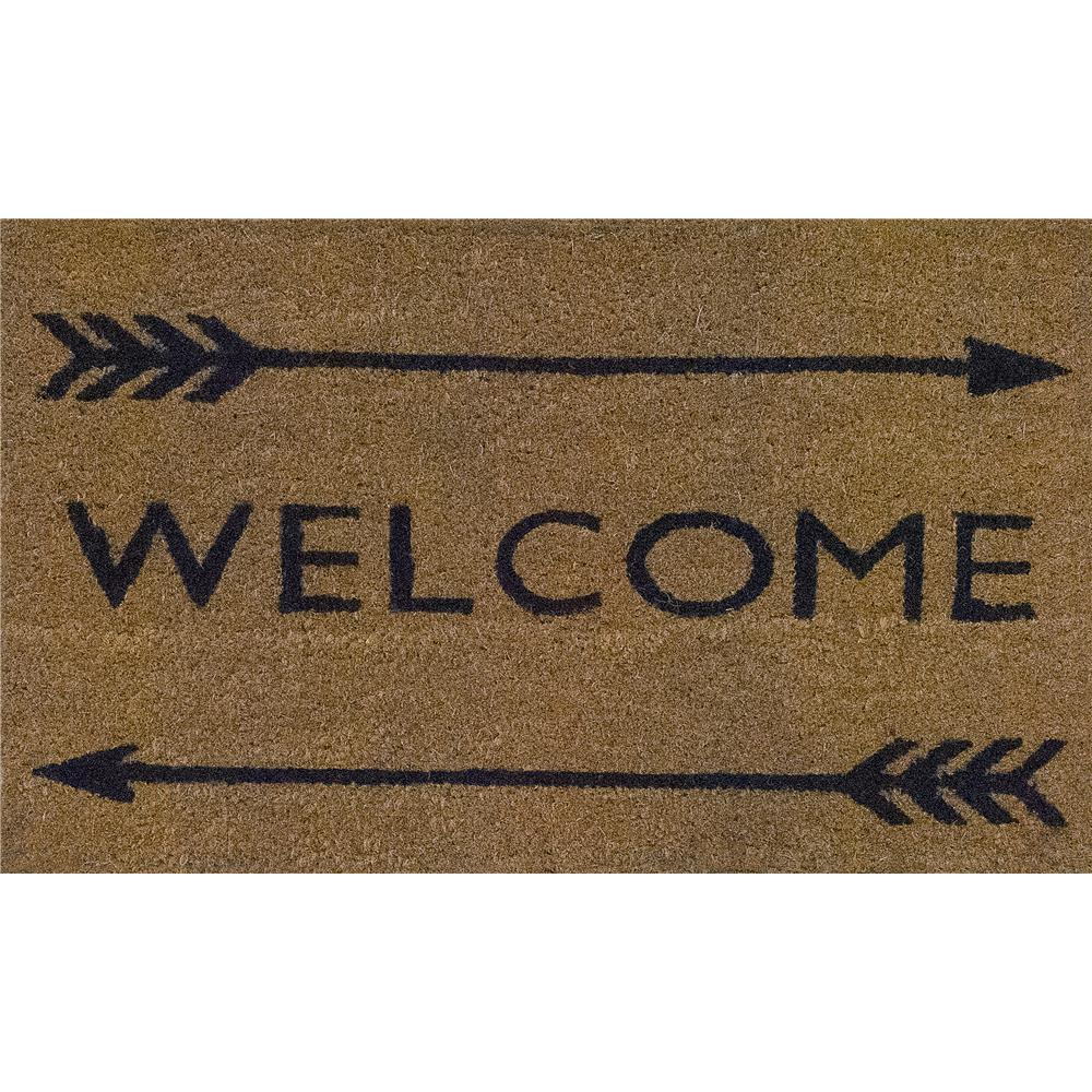 Dynamic Rugs 3461 Vale 1 Ft. 6 In. X 2 Ft. 6 In. Door Mat in Ivory/Black