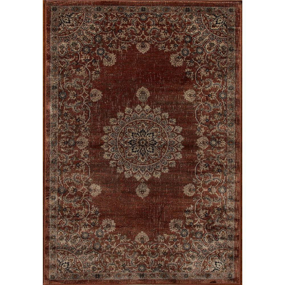 Dynamic Rugs  1158-616 Venice 5 Ft. 3 In. X 7 Ft. 7 In. Rectangle Rug in Rust