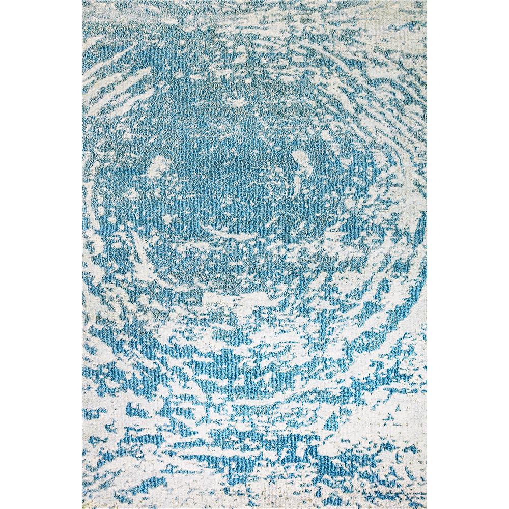Dynamic Rugs 6627 Zodiac 5 Ft. 3 In. X 7 Ft. 7 In. Rectangle Rug in Aqua Blue