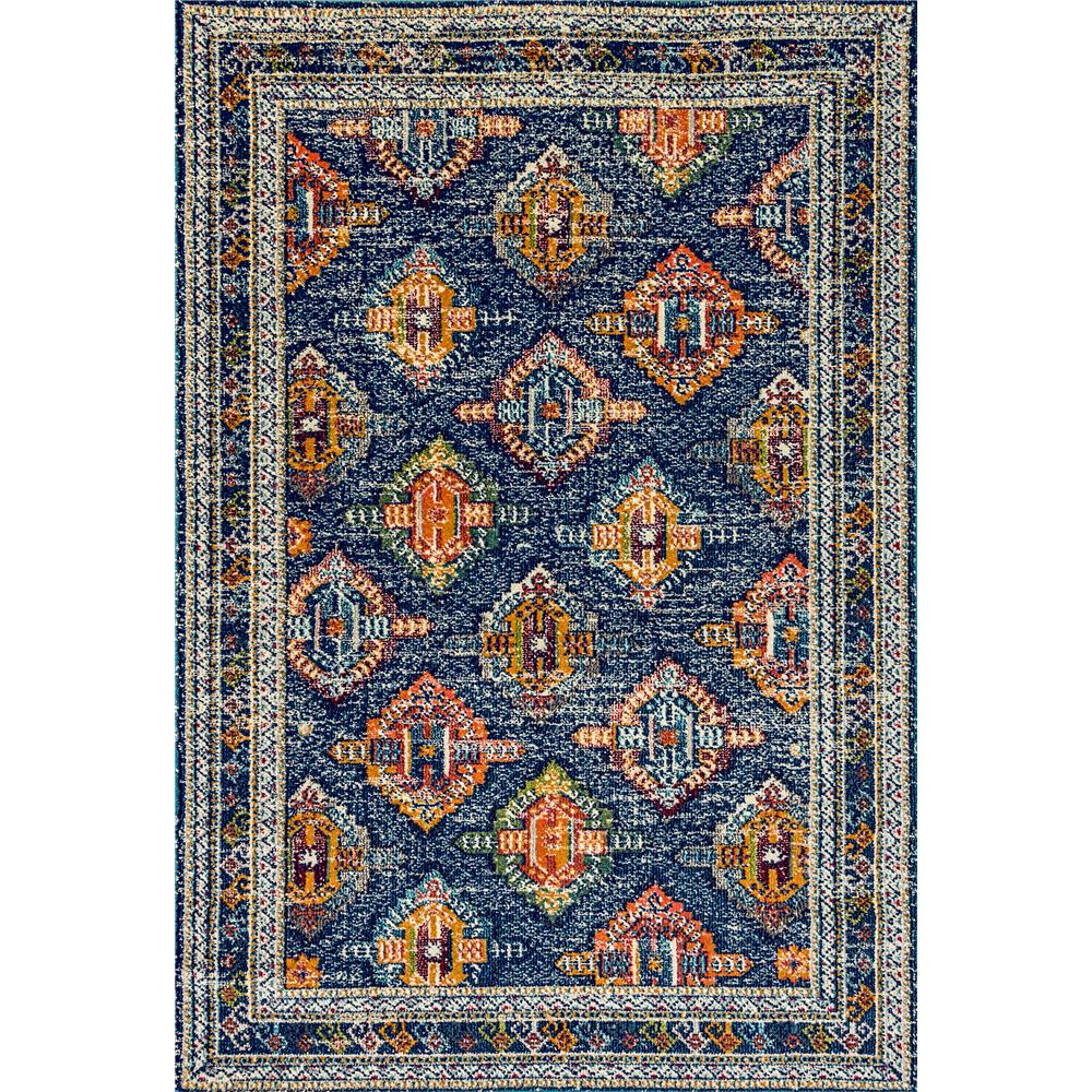 Dynamic Rugs 6628 Zodiac 5 Ft. 3 In. X 7 Ft. 7 In. Rectangle Rug in Blue/Orange