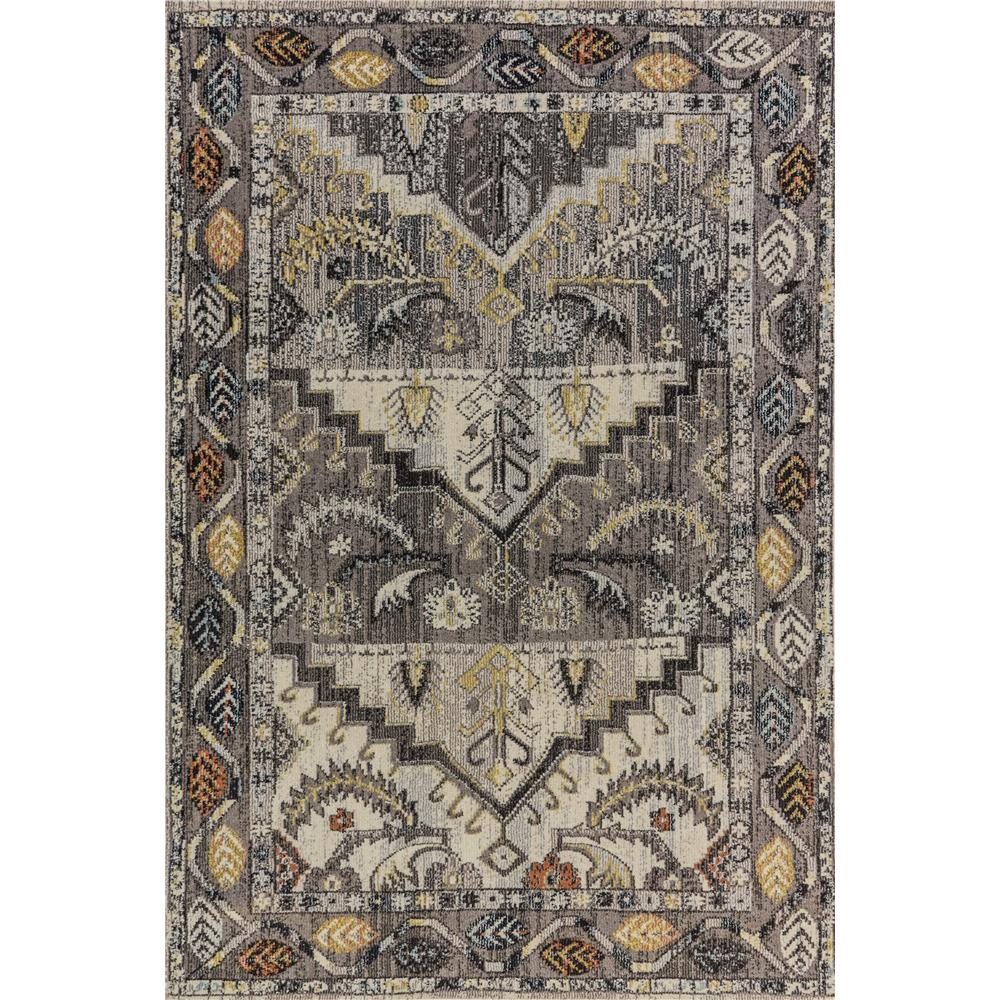Dynamic Rugs 6630 Zodiac 5 Ft. 3 In. X 7 Ft. 7 In. Rectangle Rug in Grey