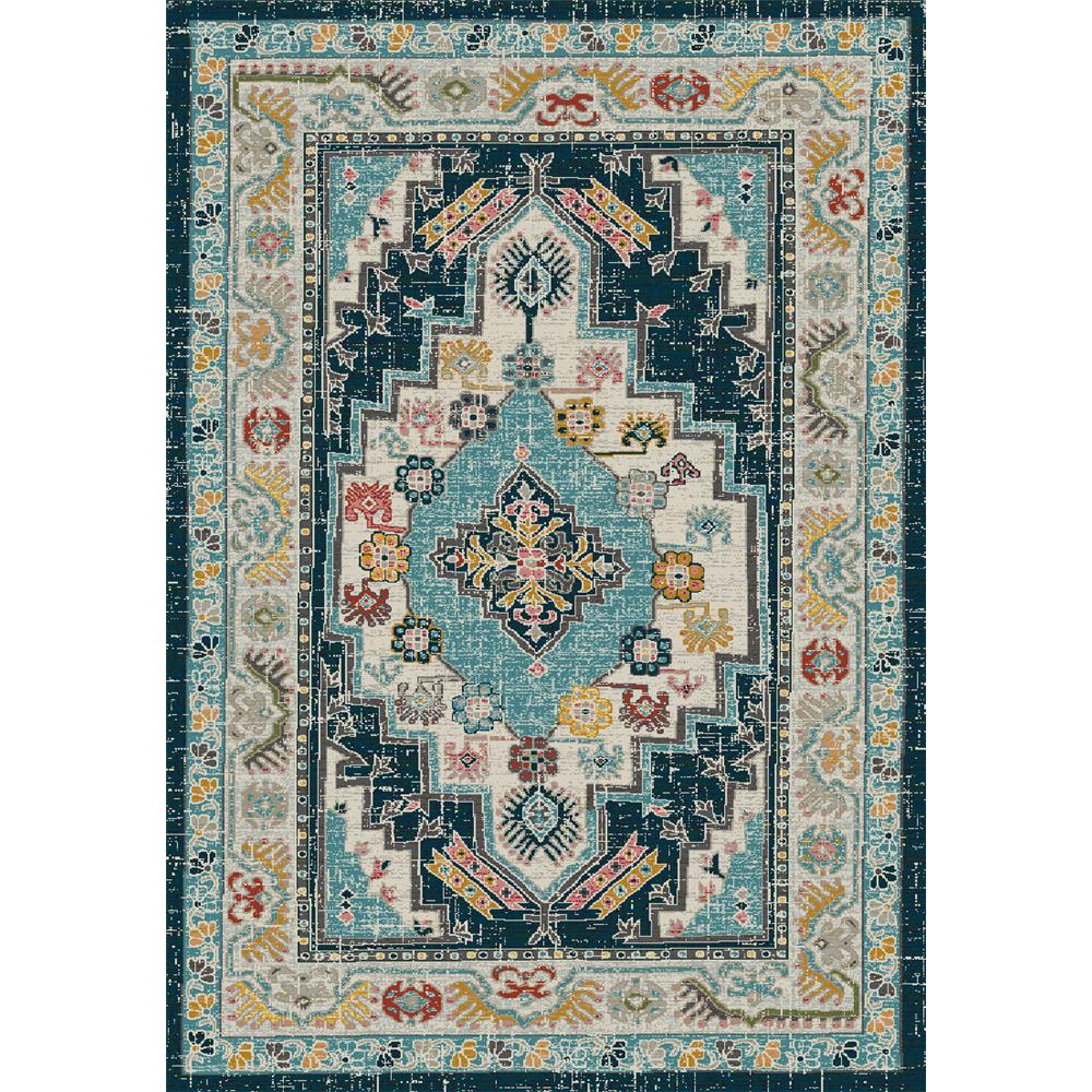 Dynamic Rugs 6631 Zodiac 5 Ft. 3 In. X 7 Ft. 7 In. Rectangle Rug in Beige/Blue