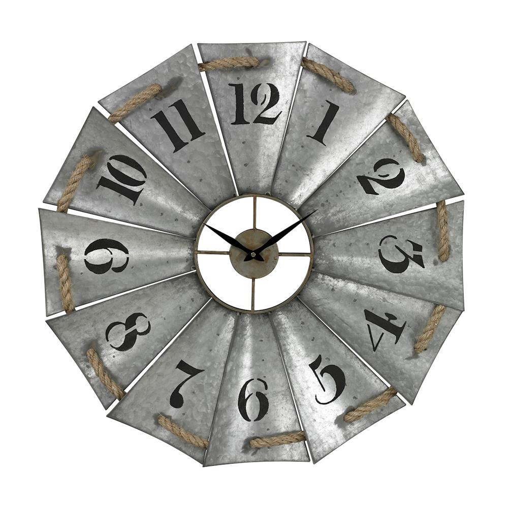 ELK Home 129-1091 Aluminum And Rope Wall Clock