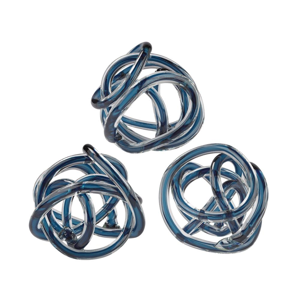 ELK Home 154-018/S3 Navy Blue Glass Knot in Navy Blue