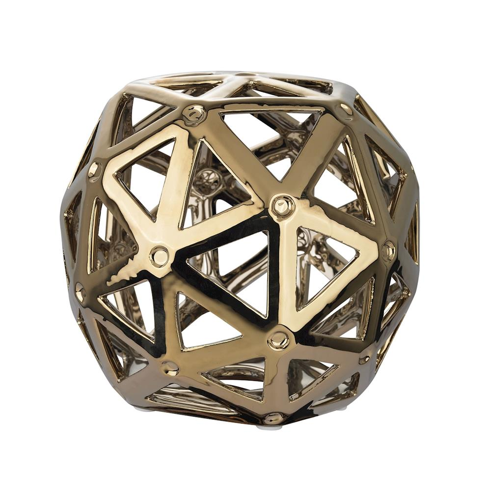 ELK Home 167-011 Perforated Multi-Hexagonal Stand in Silver Plated