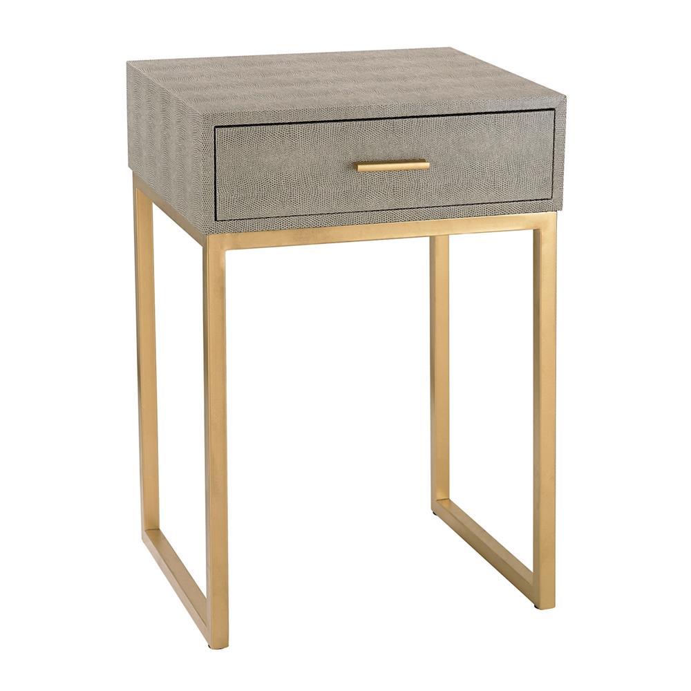 ELK Home 180-010 Shagreen Side Table in Grey in Grey / Gold