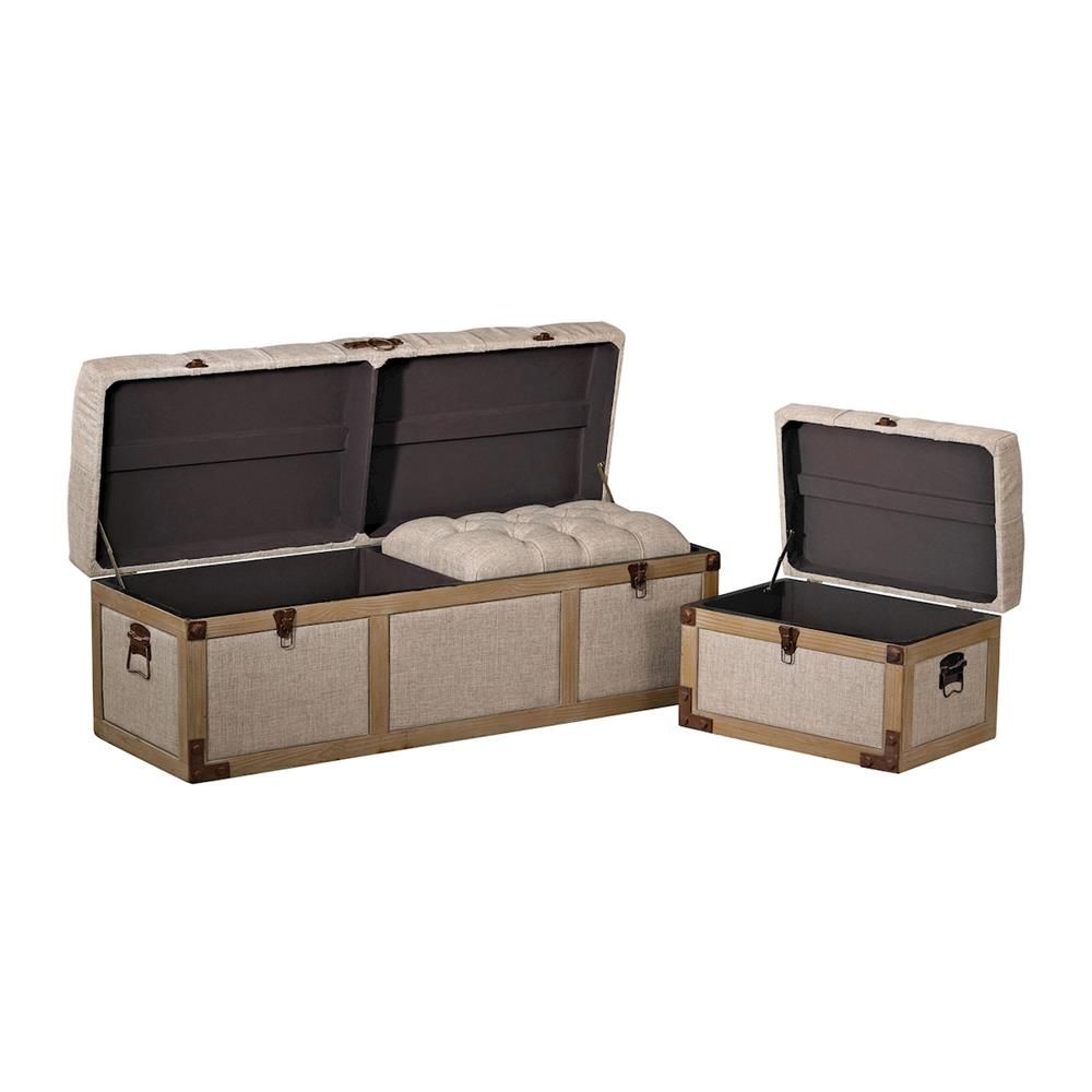 ELK Home 3170-013/S3 Belgian Linen Storage Trunks
