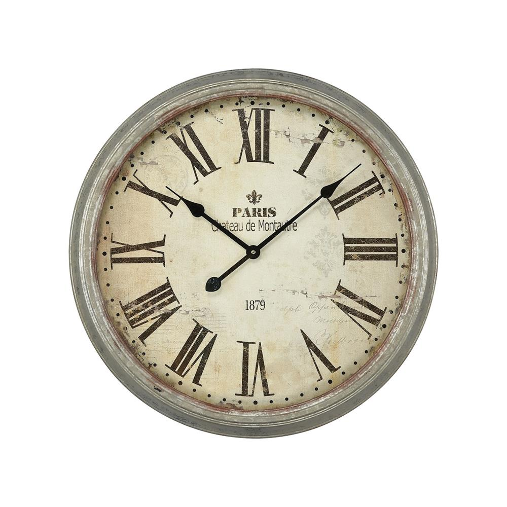 Elk Home 3205-008 Chateau de Montautre Wall Clock in Salvaged Metal