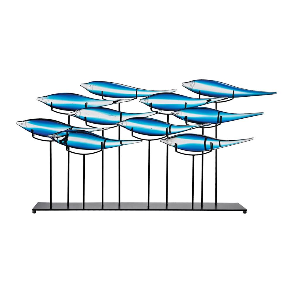 ELK Home 4154-056 Tultui Ice Blue 22-Inch Glass and Metal Table Art - Large