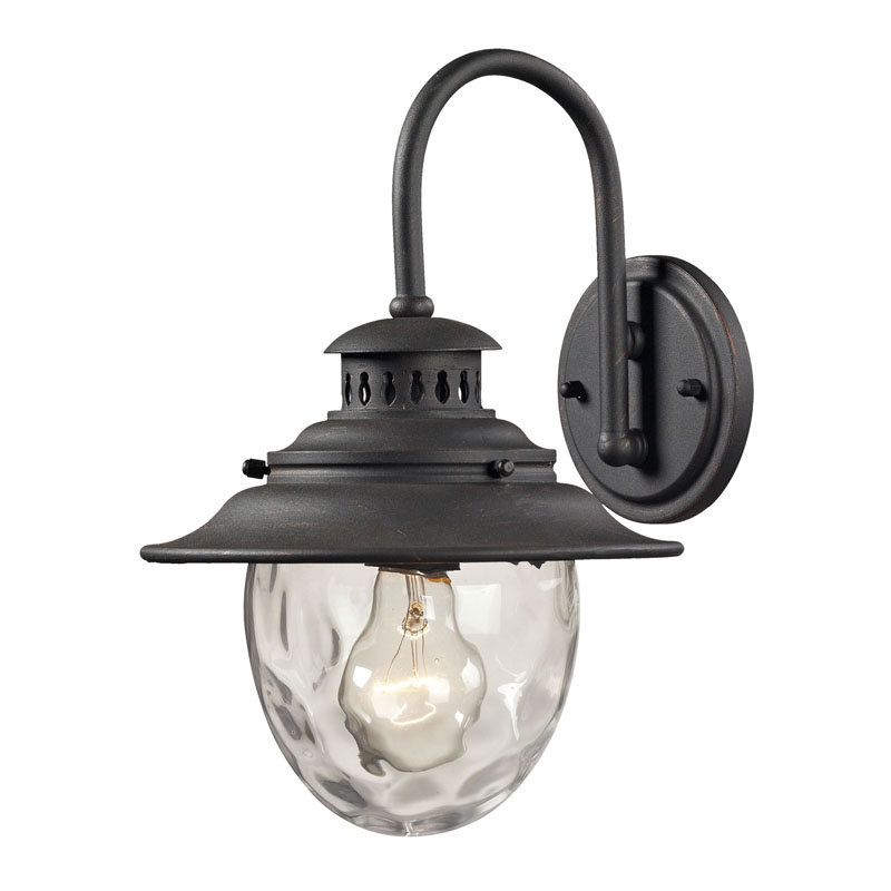 ELK Lighting 45040/1 Searsport 1 Light Outdoor Sconce In Weathered Charcoal