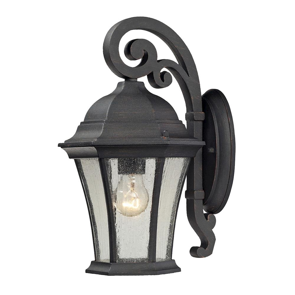ELK Lighting 45050/1 Wellington Park 1 Light Outdoor Sconce In Weathered Charcoal