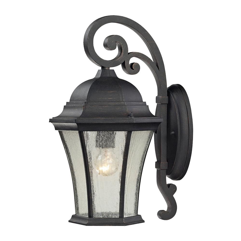ELK Lighting 45051/1 Wellington Park 1 Light Outdoor Sconce In Weathered Charcoal