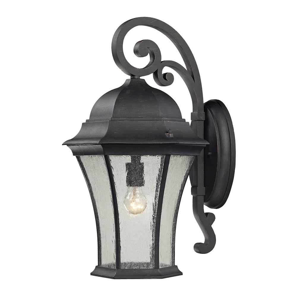 ELK Lighting 45052/1 Wellington Park 1 Light Outdoor Wall Mount In Weathered Charcoal