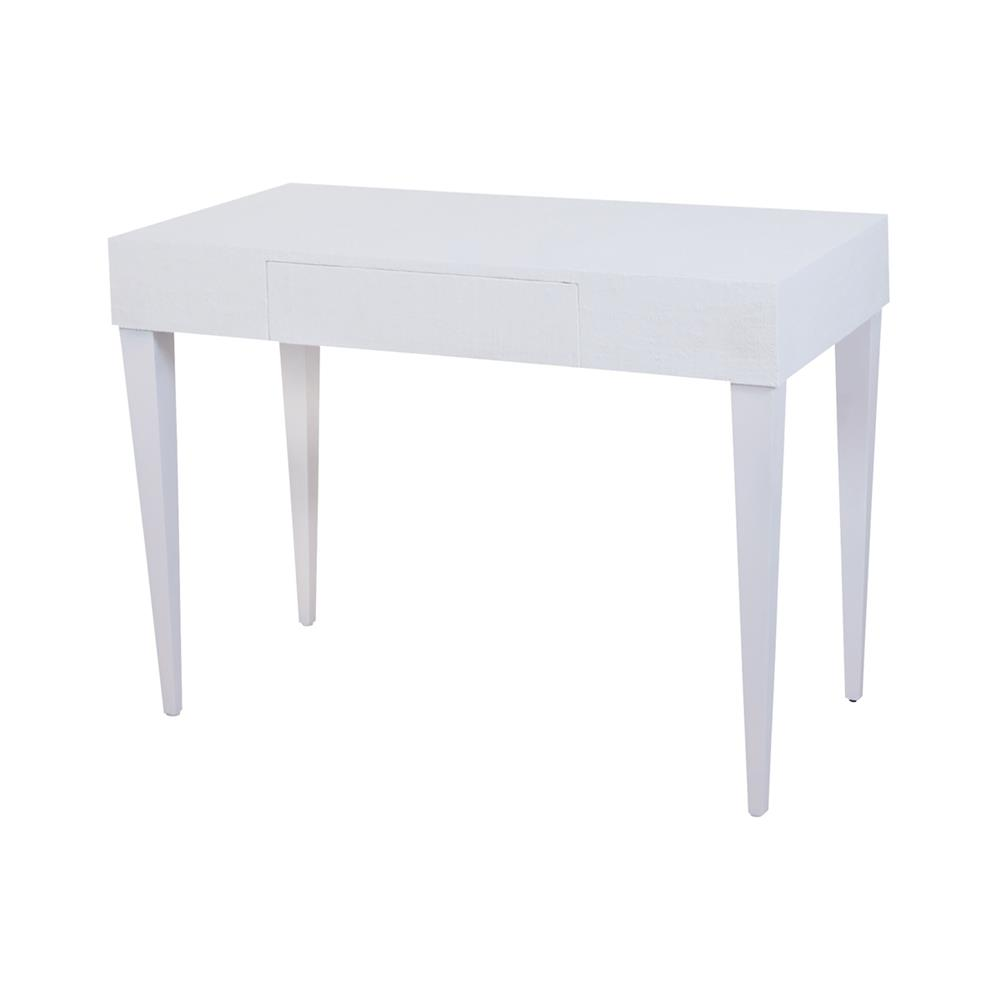 ELK Home 7011-1110 Pointe Blanche Desk In White And Natural Raffia