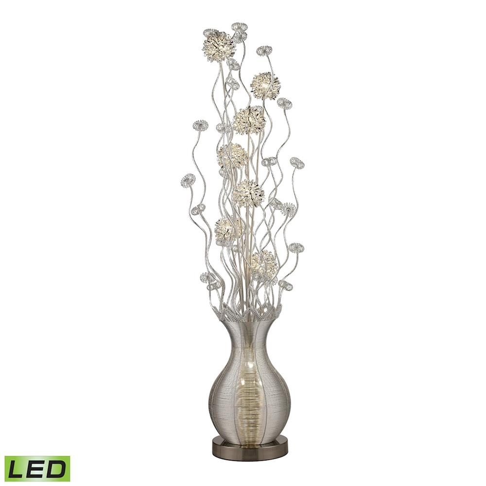 "ELK Home D2716 63"" Uniontown LED  Floral Display Floor Lamp in Silver"