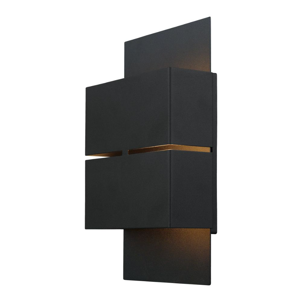 Eglo 200886A  LED Outdoor Wall Light in Matte Black