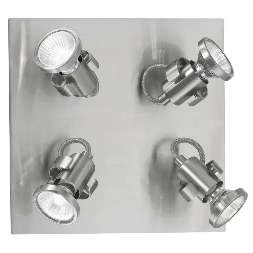 Eglo 86019A  Square Ceiling Track Light in Matte Nickel