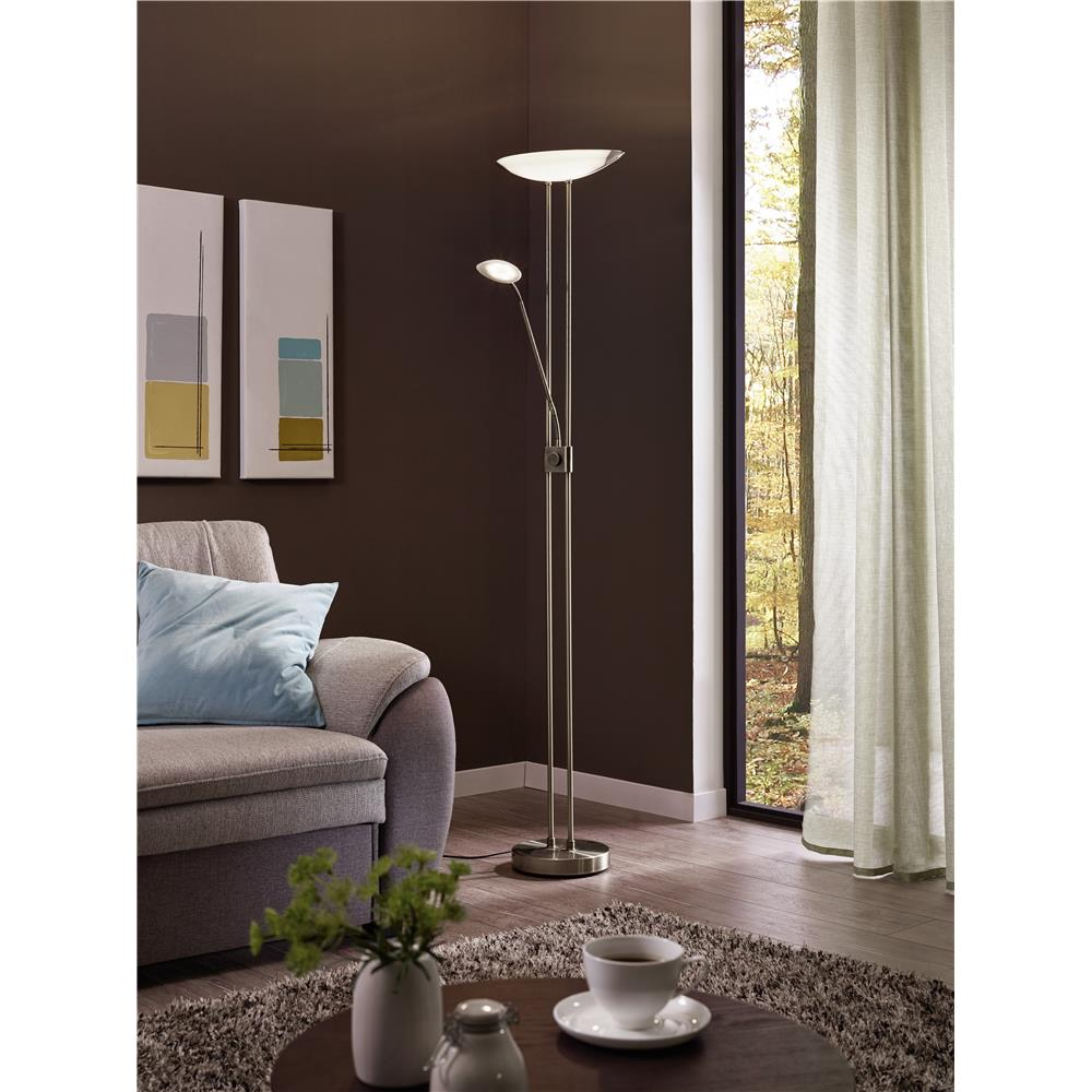 Eglo 93874A  LED Floor Lamp in Matte Nickel