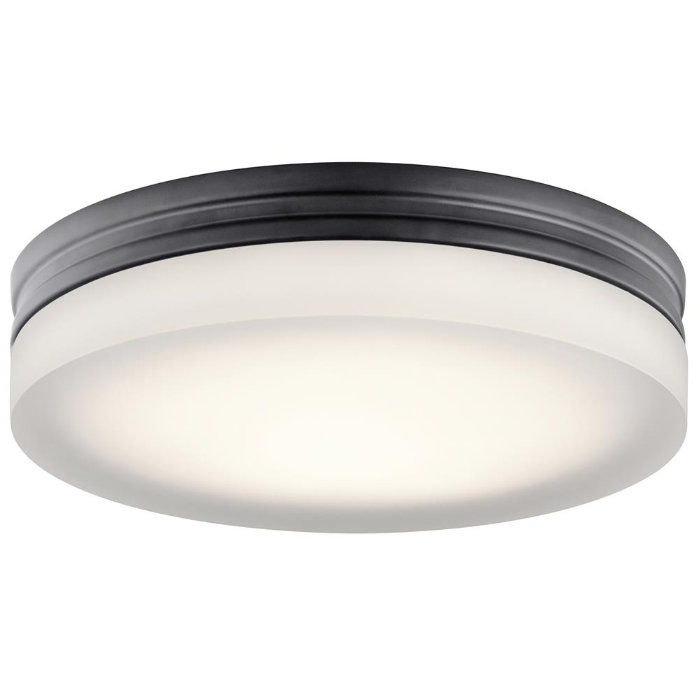 "Elan 83804 LED 11"" Round Flush Bronze"