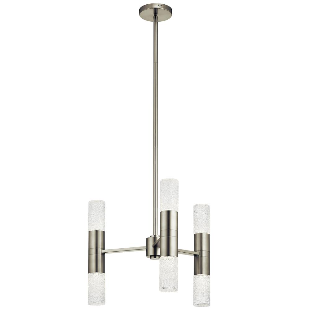 Elan 83920 Glacial Glow™ LED 3 Light Pendant in Brushed Nickel