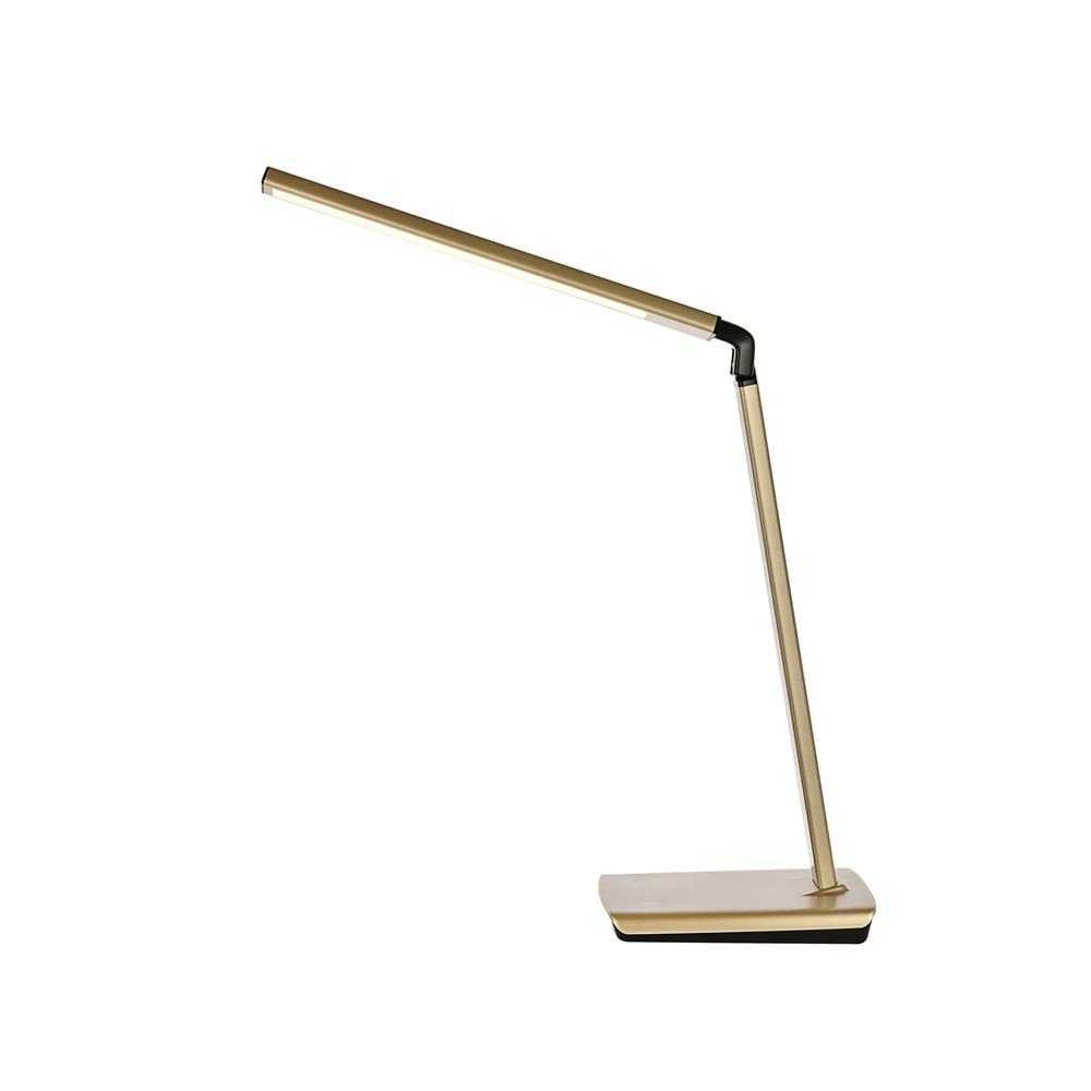 Elegant Decor LEDDS002 Illumen Collection 1-Light Champagne Gold Finish Led Desk Lamp