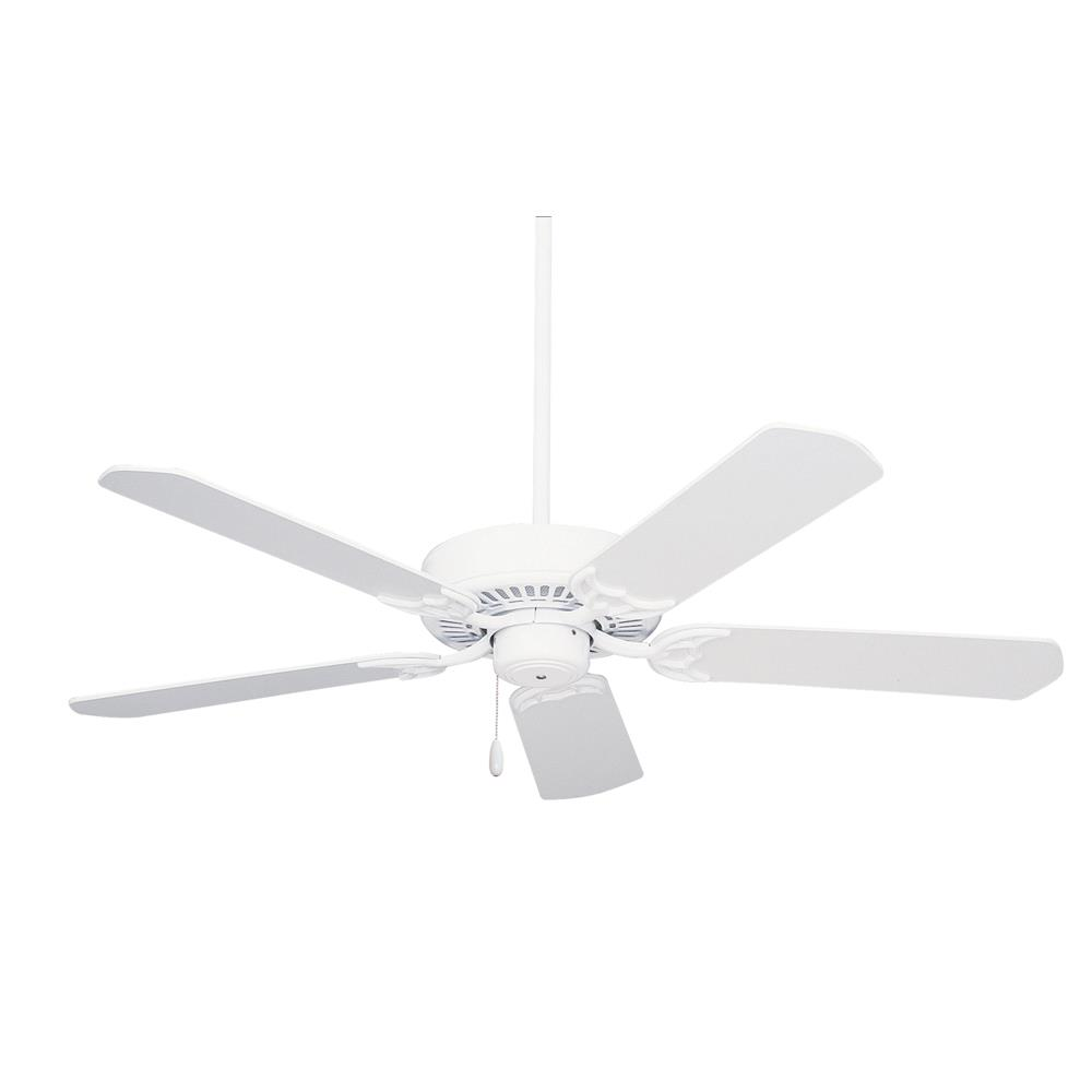 "Emerson CF652WW 52"" Summer Night Ceiling Fan in Appliance White with All-Weather Appliance White Blades"