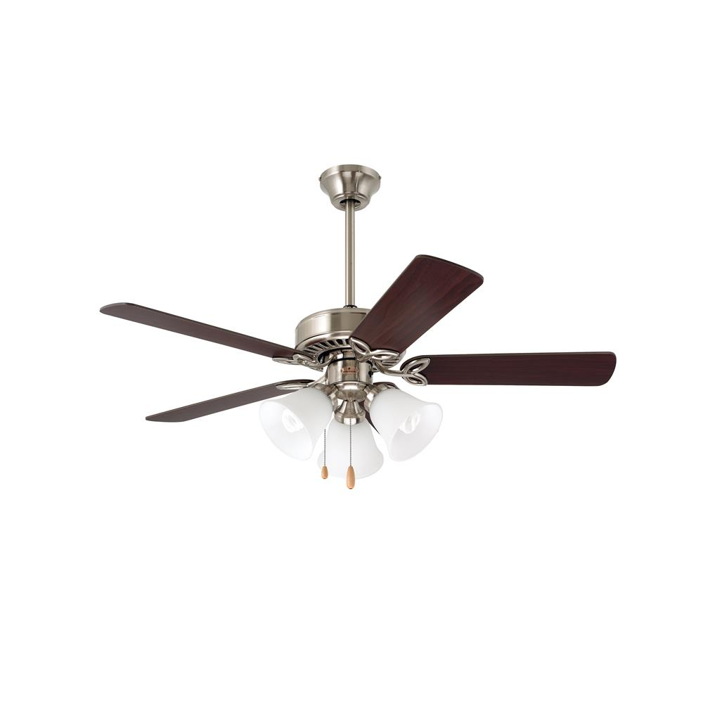 "Emerson CF710BS 42"" Pro Series II Pro Series  Ceiling fan in Brushed Steel with Dark Cherrty/Mahogany blade finish"