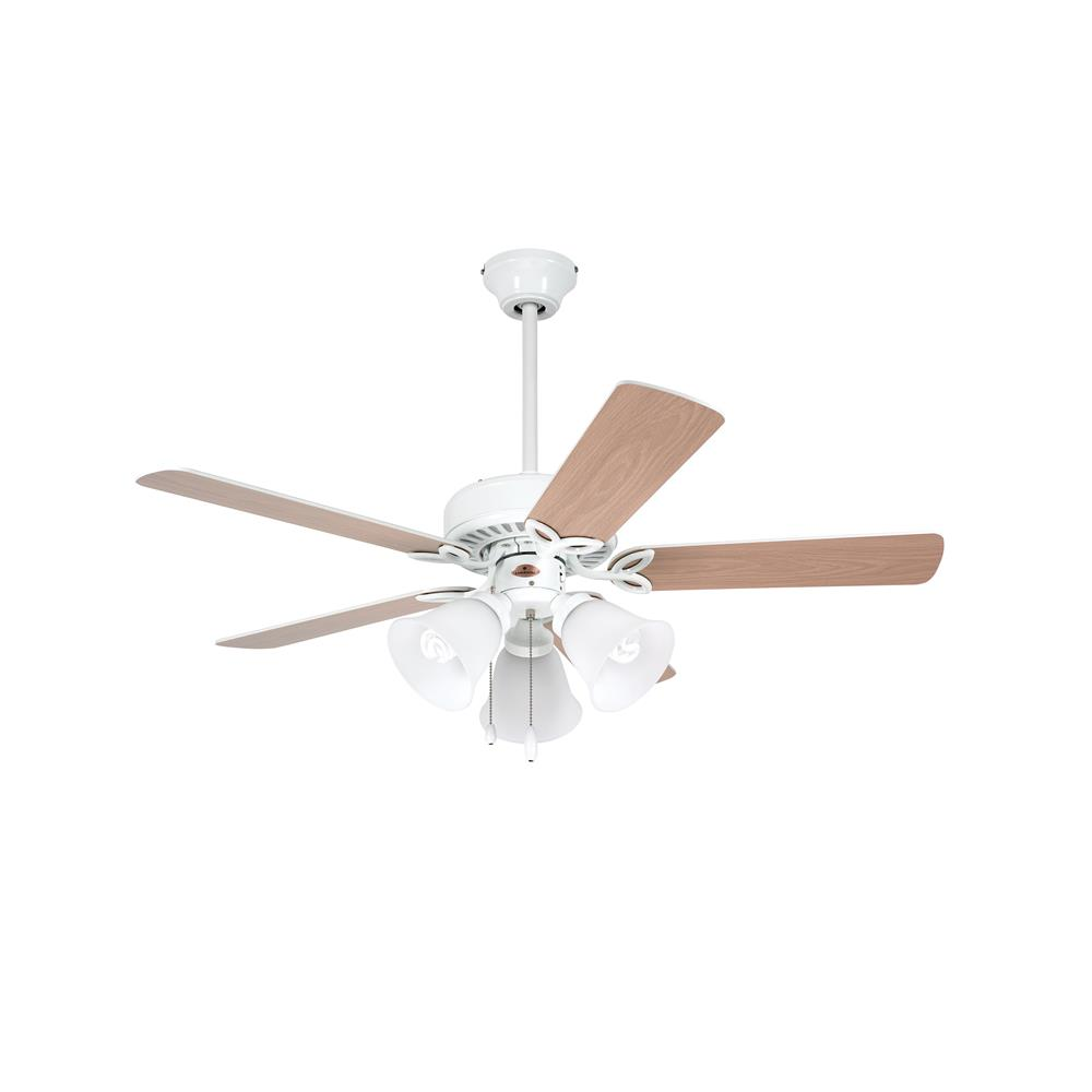 "Emerson CF710WW 42"" Pro Series II Ceiling Fan in Appliance White with Appliance White/Bleached Oak Blades"