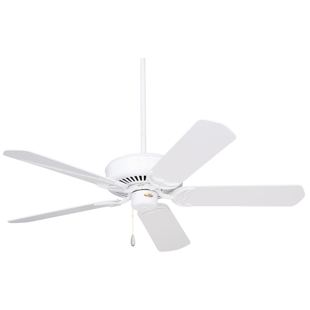 Emerson CF755WW Designer Ceiling Fan  in Appliance White with Appliance White/Bleached Oak Blades