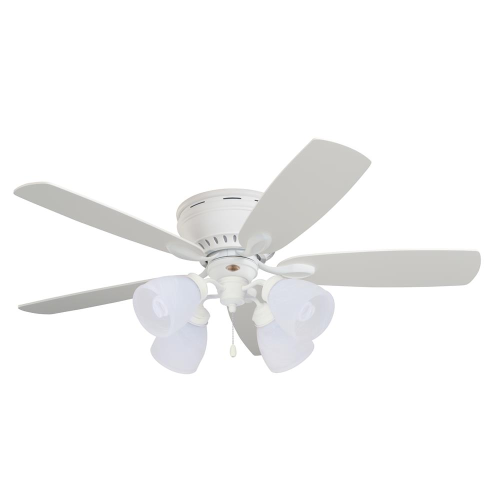 "Emerson CF905SW 52"" Prima Snugger Traditional  Ceiling fan in Satin White with Satin White/Maple blade finish"