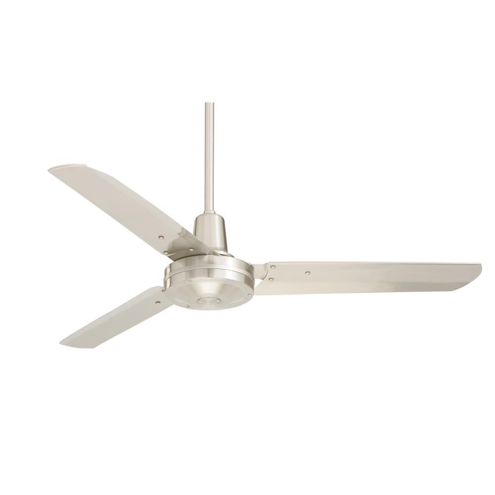 "Emerson HF948BS 48"" Industrial Fan Pro Series  Ceiling fan in Brushed Steel with Brushed Steel blade finish"