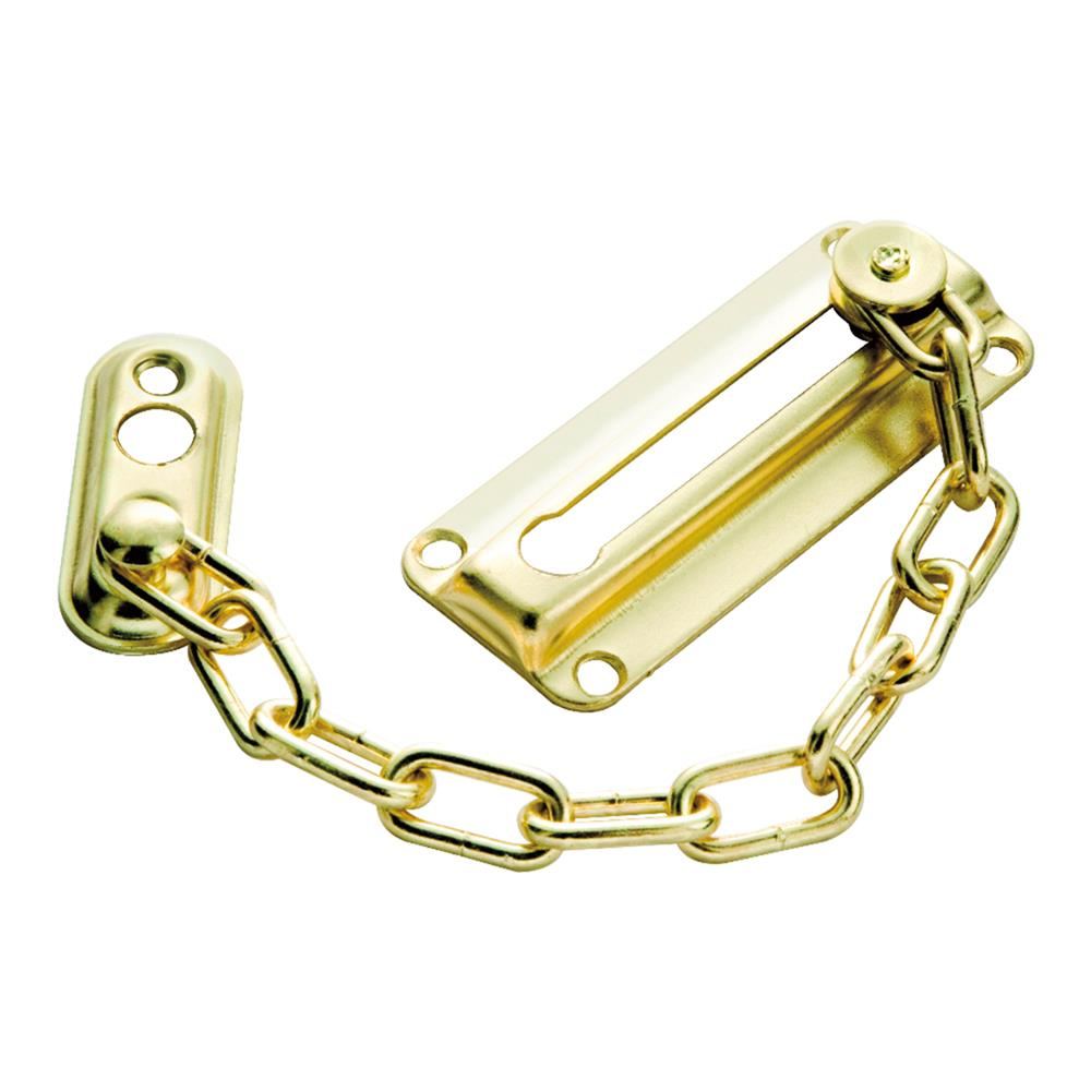 First Watch Security 1870 Chain Door Guard Polished Brass Finish