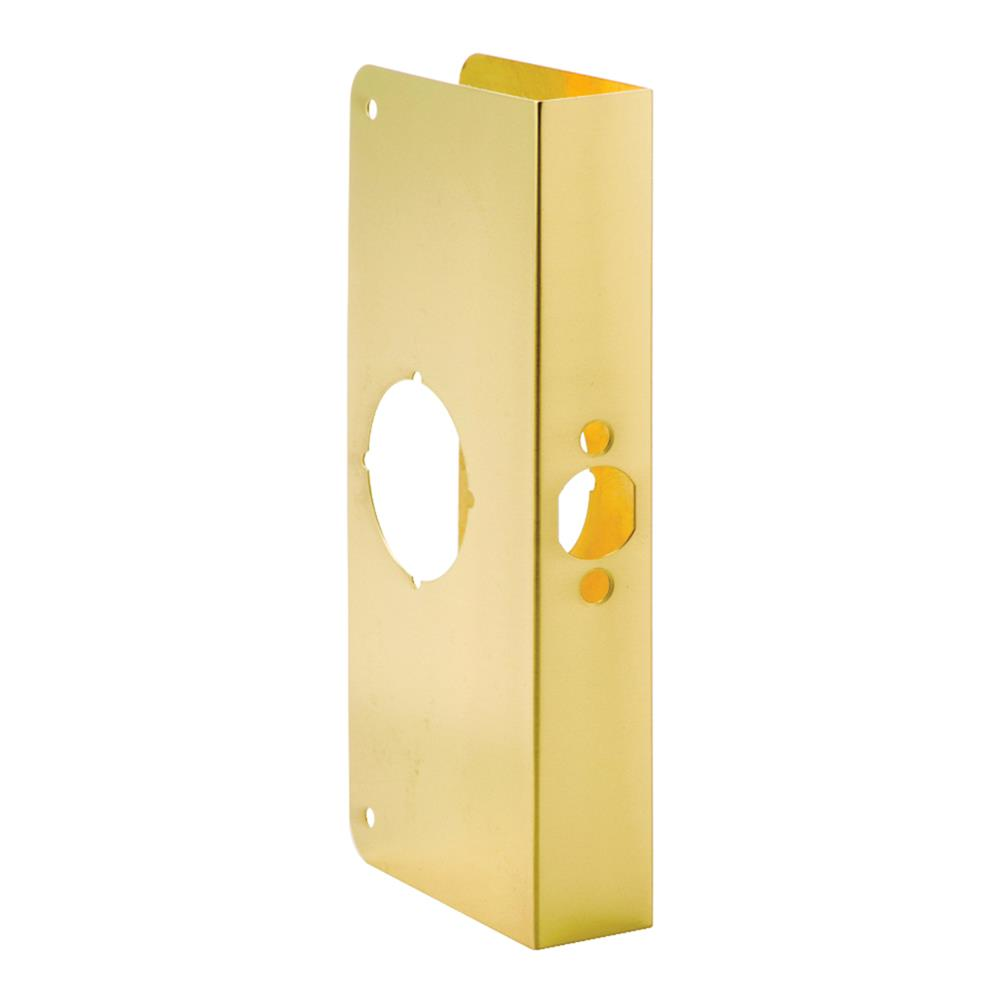 First Watch Security 2001-PB Door Reinforcer, Backset 2-3/8 Inch Door Thickness 1-3/8 Inch Polished Brass - Solid Brass Finish